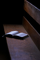 Open Bible on Pew